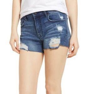 VISGOSS Marley High Waist Distressed Denim Shorts